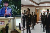 Dipimpin Presiden Jokowi secara Virtual, Wagub Kandouw Ikuti Upacara Hari Bhayangkara ke-74 di Polda Sulut