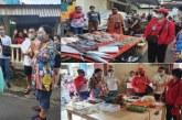 Ketua TP PKK Ibu Rita Blusukan ke Pasar Lililoyor, Ajak Warga Patuhi Protokol Kesehatan