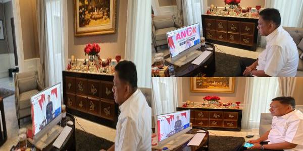 Dihadiri Jokowi Secara Virtual, Gubernur Olly Ikuti Aksi Nasional Pencegahan Korupsi
