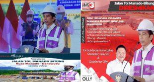 Tol Manado-Minut-Bitung Diresmikan Presiden, Olly Dondokambey: Terima Kasih Presiden Jokowi