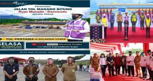 Presiden Joko Widodo Membuka Peresmian Jalan Tol Manado – Bitung