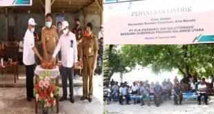 Beri Bukti Bukan Janji, Gubernur Olly Dondokambey Resmikan PLTD di Pulau Siladen