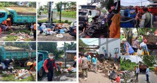 ODSK Kerahkan 50 Truk Angkut Tumpukan Sampah di Manado