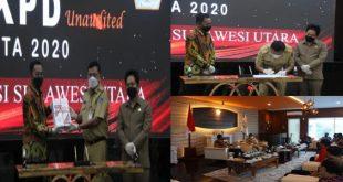 Gubernur Olly bersama Bupati/Walikota se-Sulut Serahkan LKPD 2020 kepada BPK RI