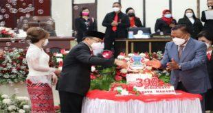 Hadiri HUT ke-398 Manado, Gubernur Olly Minta Pemkot Manado Fokus Tangani Covid-19